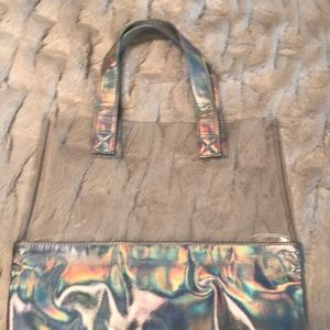 Handbags - Iridescent Clear Tote NWOT